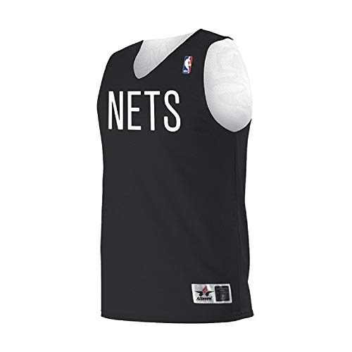 Alleson Adult Logo Reversible NBA Game Jersey - Brooklyn Nets - X-Large