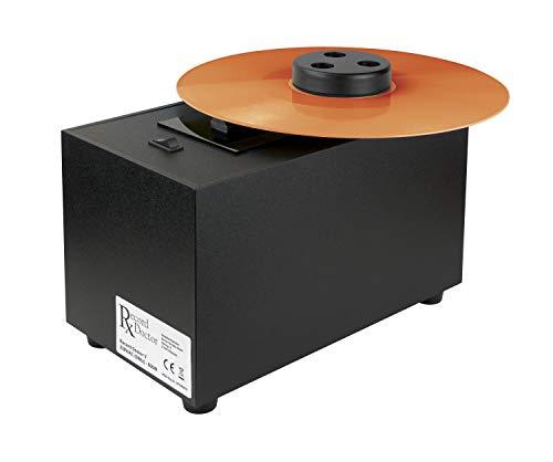 Schallplattenwaschmaschine Record Doctor V, Set mit  2in1 Reinigungs-Bürste mit Samt, Reinigungs-Flüssigkeit und Tuch, schwarz