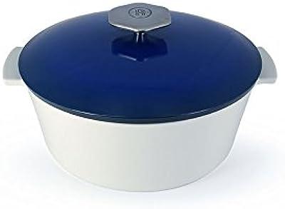 REVOL 649665 RV21025 Induction Round Dutch Oven, 3.75QT, Touareg Blue