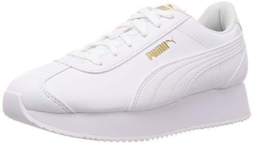 PUMA Turino Stacked, Zapatillas para Mujer, Blanco White White, 40 EU