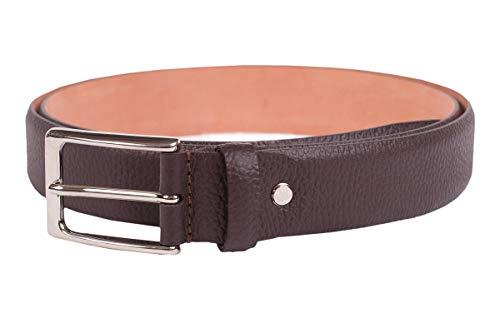 Handmacher Leder-Gürtel für Herren in Braun, aus Wasserbüffelleder, Länge 105 cm