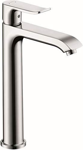 hansgrohe Metris Modern Timeless Easy Clean 1-Handle 1 10-inch Tall Bathroom Sink Faucet in Chrome, 31183001,Medium