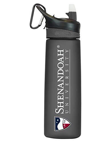 Shenandoah University Tritan Plastic Frosted Sport Bottle, Design-1 - Black