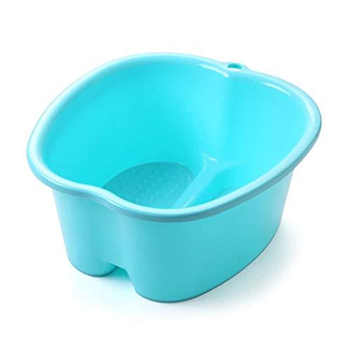 Abcidubxc Pied de bain en plastique avec fonction massage, détoxification et pédicure longue durée bleu