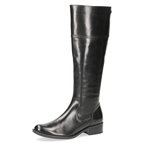 CAPRICE Damen Stiefel 25525-23, Frauen KlassischeStiefel, elegant Women\'s Women Woman Freizeit leger Boots lederstiefel,Black Nappa,7 UK / 40.5 EU