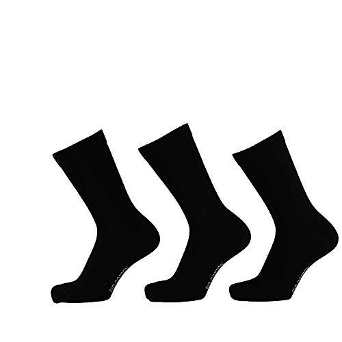 Lieblingsstrumpf24 6 Paar Bio Baumwolle Socken Schwarz Dunkelblau Öko-Tex Standard 100 ohne Naht (39-42, Schwarz)