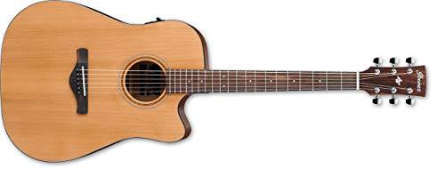 Ibanez Cutaway Guitarra western Art Madera preamplificador bajo Natural acabado brillante