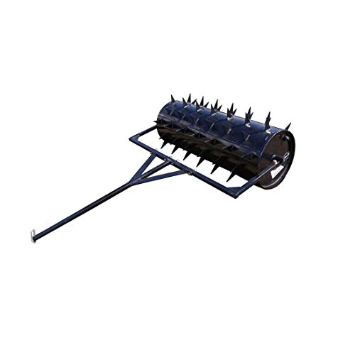 "Titan Distributors Inc. 36"" Tow Behind Drum Spike Aerator for ATV UTV and Utility Tractor with 24 Gallon Drum"