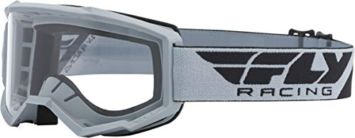 FLY Racing Focus Goggles for Motocross, Off-road, ATV, UTV, and More (GREY with Clear Lens)