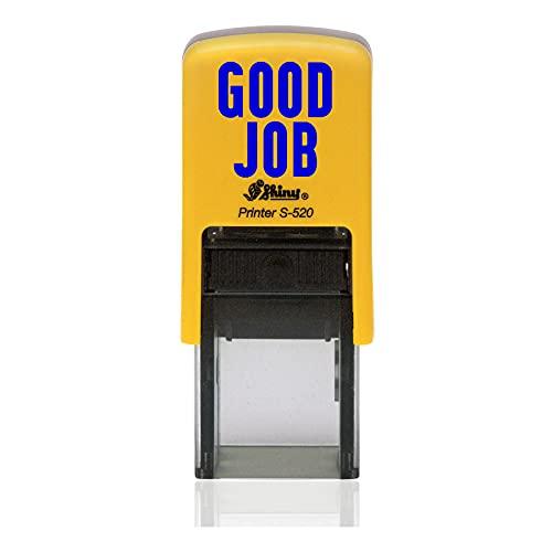 IMPACT2PRINT Shiny 520 GOOD JOB Texto Auto entintado Redondo Mini sello personalizado Sellos comerciales Oficina Estacionario