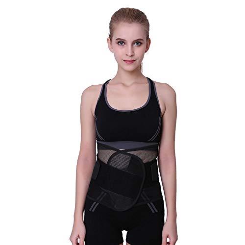 Hhjkl Cinturón Lumbar Unisex Ajustable elástico en la Espalda Lumbar Apoyo de la Ayuda...