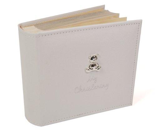 Joe Davies - Álbum de Fotos (Gamuza Blanca, 15,2 x 10,1 cm), diseño de Osito, Color Blanco