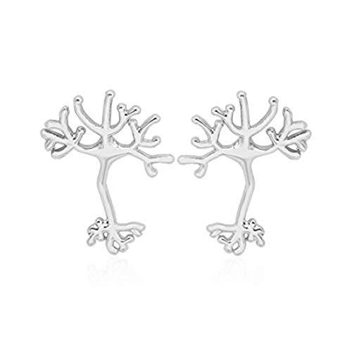Pendientes colgantes chapados en plata con diseño de árbol de la vida para mujer, regalo de madre, boda, fiesta