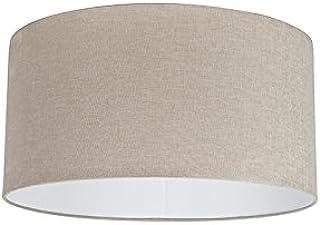 QAZQA Moderno Algodón Pantalla tela marrón claro 50/50/25, Redonda/Cilíndrica Pantalla lámpara colgante,Pantalla lámpara de pie