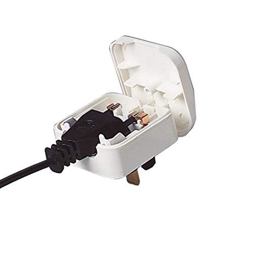 Reino Unido Euro 2 Pin 3 a US Pin Adaptador Universal Plug convertidor de la CA Europeo de Viaje de White