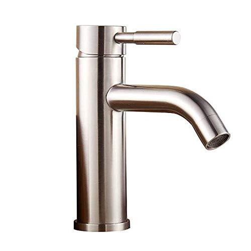 304 roestvrijstalen badkamer kraan moderne wastafel waterkraan eenhands wastafel wastafel met lange uitloop geborsteld nikkel A B