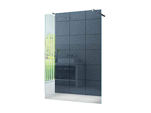 Freistehende 10 mm Duschabtrennung Düsseldorf 140 x 200 cm Klarglas/Walk-In Duschtrennwand Duschwand Dusche
