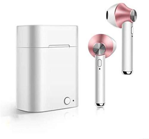 Kabellose Bluetooth-Kopfhörer, unsichtbar, Mini-Kopfhörer, kabellos, Sport-Headsets mit Kopfhörer-Ladehülle gold