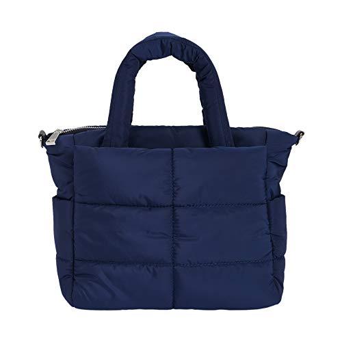 Parfois - Bolso Shopper Acolchado De Náilon - Mujeres - Tallas M - Azul Marino