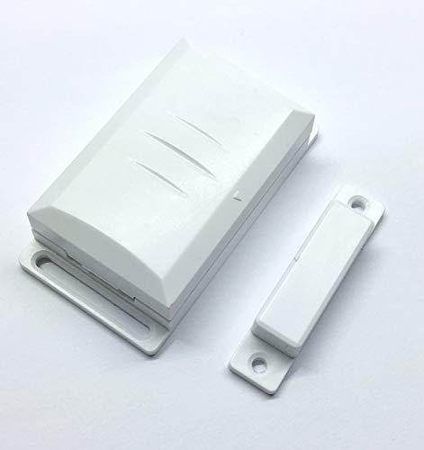 Interruptor de contacto de ventana DFM-1000con sensor magnético para receptor inalámbrico de DIW y similares. Contacto externo para diversos circuitos. Para control de aire en campanas extractoras