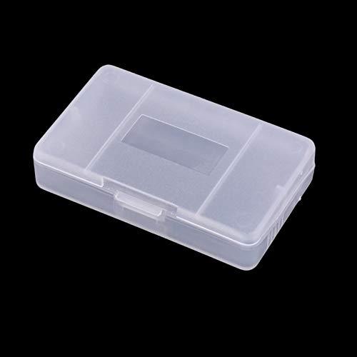 OSTENT 10 x Cubierta de la caja de la tarjeta del cartucho de juego de plástico transparente para Gameboy GBA SP GBM