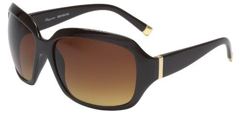 Schöne Marken Sonnenbrille für Damen von Burgmeister mit 100% UV Schutz   Sonnenbrille mit stabiler Polycarbonatfassung, hochwertigem Brillenetui, Brillenbeutel und 2 Jahren Garantie   SBM106-242