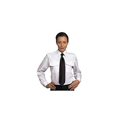 Van Heusen Ladies' Aviator Shirt - Long Sleeve 16 White