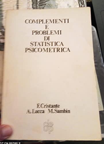complementi e problemi di statistica psicometrica