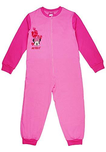 Dziewczęcy kombinezon do spania, piżama jednoczęściowy, strój do spania, kombinezon dla dzieci, śpioszki z Myszką Minnie Mouse firmy Disney w rozmiarze 92 98 104 110 116 122 100% bawełna kombinezon