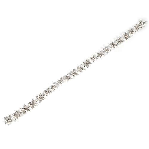 Velaurs Kristall Strass Kette, Kristall Glas Strass Material, Schöne Kleidung Accessoires, Strass Kette, Kleider für Brautkleider Halsketten Kopfbedeckung