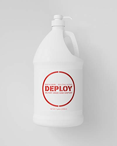 Deploy Military-Grade Hand Sanitizer 80% Alcohol with Pump, 1 Gallon