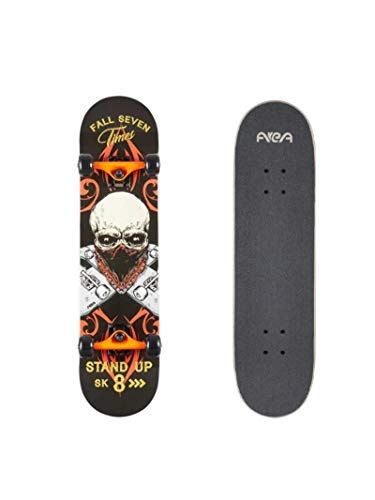 AREA Komplett Skateboard für Einsteiger Anfänger, 7,9inch, mit Aluminium Truck (Stand Up)