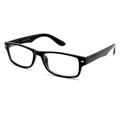 KISS Gafas neutras Elegante mod. LUSTY - montura óptica GLAMOUR hombre mujer VINTAGE refinada - NEGRO