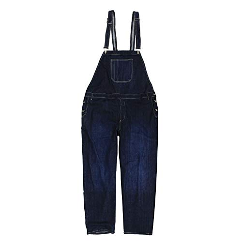 Abraxas Jeans-Latzhose in dunkelblau- Stonewash Übergrößen bis 12XL, Größe:7XL