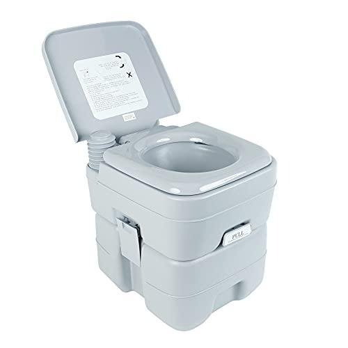 HIRAM Camping Toilette 20L Sport Campingtoilette tragbar Reise Toilette Abnehmbar Toilette Toilet für Wohnmobil Wohnwagen Caravan