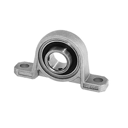 T8 Loodschroef Ondersteuning Diameter 8mm Zinklegering Bore Ball Bearing Pillow Block Mounted For T8 Lead Screw Shaft Collar - Zilver (Size : KFL002 15MM)