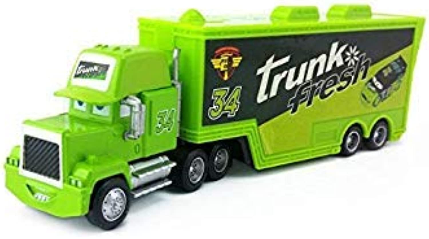 Pixar Cars 2 3 Mack Uncle King Francesco Fabulous Hudson No.4  No.123 Racer Truck 1 55 Toy Model Car Kids Chrismas Gift Mack No.34