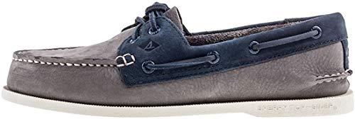 Sperry Top-Sider Hombre A / 0 Zapatos de Barco de 2 Ojos, Gris, 40.5