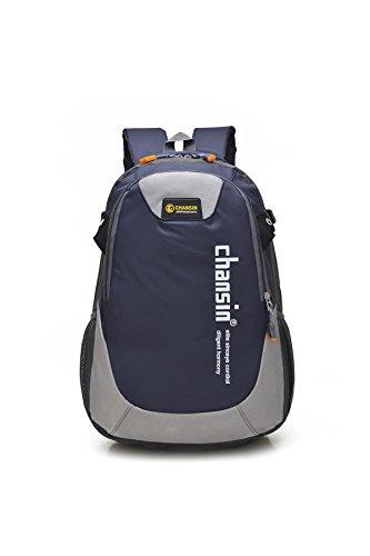 Loisirs alpinisme sac à dos léger portable multifonction sac à dos escalade voyage Équitation randonnée shopping sac étudiant Business Pack 9 couleurs H48 x L32 x T18CM , sapphire blue