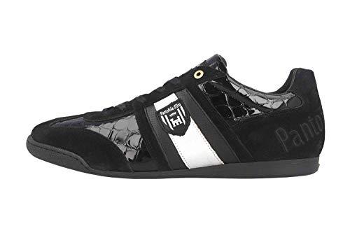Pantofola d'Oro Herren Imola Scudo PATENT Uomo Low Sneaker, Schwarz (Black .25y), 47 EU