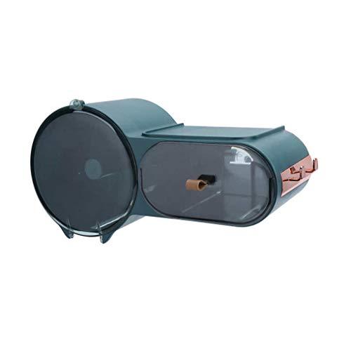 JJZXD Tenedor de Papel higiénico Toallitas húmedo Caja Tenedor de Papel higiénico Montado en la Pared Impermeable Rollo de Papel Caja de Almacenamiento Caja de Tejido Caja de baño