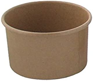 Brown Kraft Soup Cups (Case of 50), PacknWood - Recyclable Paper Bowls for Hot & Cold Foods (8 oz, 3.6
