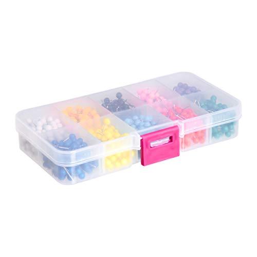 AmazonBasics 1/8-Inch Push Pins Map Tacks 10 Colors (Each Color 100 PCS) - 1000-Pack Photo #3