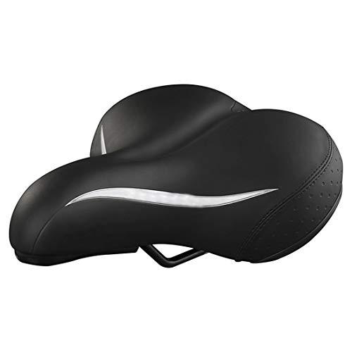N/A Sitzkissen für Fahrrad, bequem, dickes Mountainbike, Zubehör für Fahrradausrüstung im Freien, Schwarz