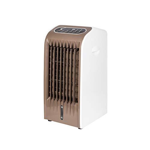 Grafner XXL mobiles Klimagerät mit Fernbedienung, Räder, 4 Stunden Timer, 3-Gang Windmodus, Weitwinkelschwingung, 4 Liter Tank und Kühlakkus, Nachtmodus, energiesparend Luftkühler Befeuchter Reiniger
