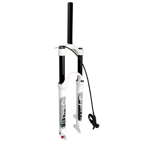 LvTu Horquilla Delantera Bicicleta 26 27.5 29 Pulgadas, Horquilla Aire Suspensión MTB Ultraligero Amortiguador Ajuste de Rebote 140mm Viaje para 1.5-2.45' Neumáticos
