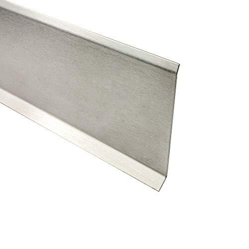 Sockelleiste Edelstahl Fußbodenleisten V2A L250cm 80mm gebürstet