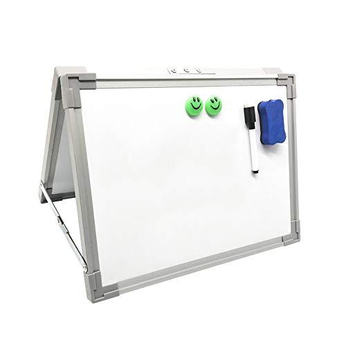 ZDAMN whiteboard magnetisch whiteboard droog wissen klein wit bord voor kinderen, kinderen draagbare en Mini voor studenten en persoonlijk gebruik desktop met marker handheld dubbelzijdig metalen frame