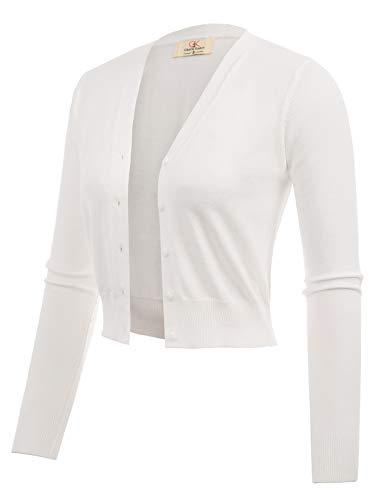 Lightweight Cotton Short Women Bolero Shrug Ivory Size XXL CL2000-2