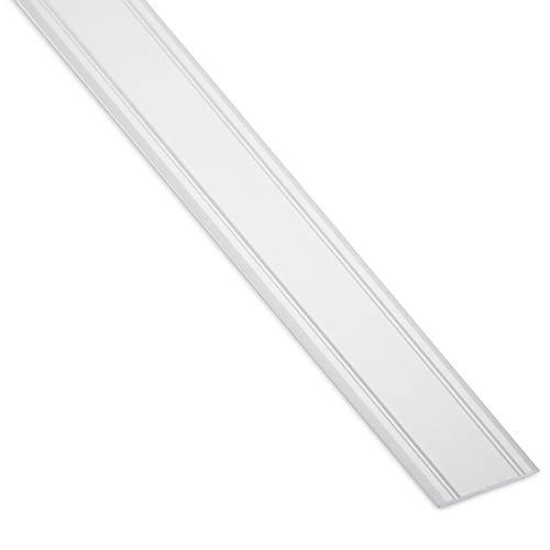 SOTECH 1 Stück Übergangsprofil Cross selbstklebend superflach Silber eloxiert Übergangsschiene Breite 30 mm Länge 100 cm Boden-Profil Ausgleichsprofil für Laminat, Fliesen, Parkett uvm.